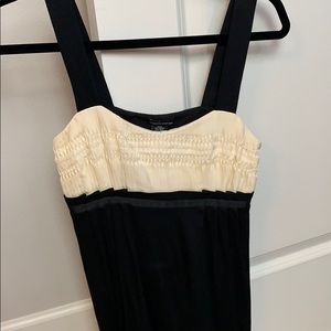 Black and White ruffle camisole